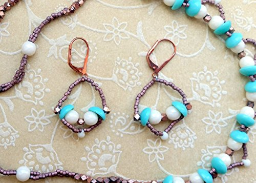 Delica Beaded Jewelry (The Classic Look Pearl Drop Earrings Elegant Handmade Beaded Jewelry)