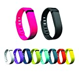 Sezee WristBand Replacement Wrist Bands for Fitbit Flex Bracelet Armband (10pcs Small)