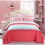 GL&G European cotton satin embroidery four - piece fashion simple embroidery cotton quilt bed linen,H,null