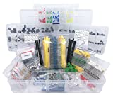 Electronic Component Assortment, Resistors, Capacitors, Inductors, Diodes, Transistors, Potentiometer, LED, PCB, 2000 pcs