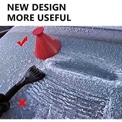 Round Windshield Ice Scrapers, Magical Car Windshield Ice Snow Scrapers,Ice Snow Removal Shovel Tool: Automotive