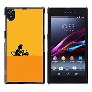 Jordan Colourful Shop - Monkey Business Writer For Sony Xperia Z1 L39 - Personalizado negro cubierta de la caja de pl??stico -