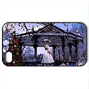 Mary_Poppins_Christmas_Fun - Case Cover for iPhone 4 and 4s (Amusement Parks Series, Watercolor style, Black)