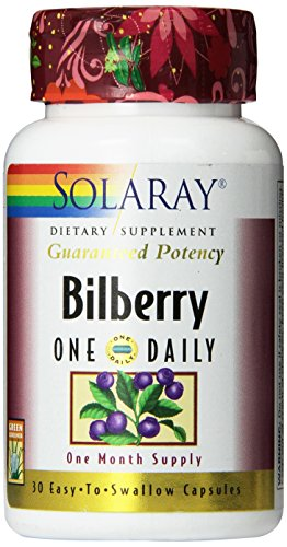 Solaray One Daily Bilberry Extract, 160mg, 30 Count