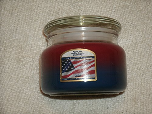 Old Virginia Candle Company 8 Oz Triple Fragrance Collection Patriot Candle: Apple Pie, Vanilla Cream and Blueberry Scents Blueberry Pie Collection