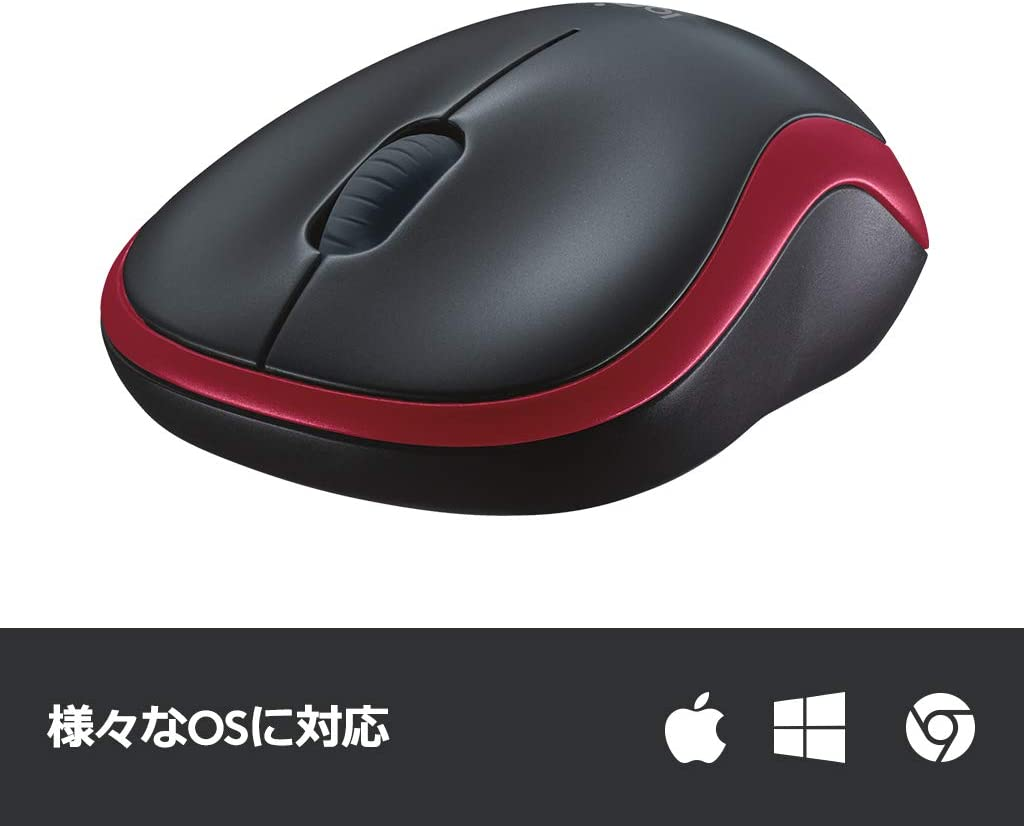 LOGICOOL mouse wireless M185 red M185RD
