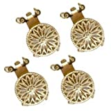 Filigree Pearl Clasp 2 Strand Gold-Filled 4Pc