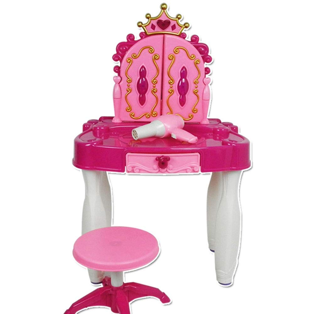 Girls Dressing Vanity Table Play Set Children And Girls Dream Pretending To Play With Children's Vanity Tables And Chairs And Fashion And Make-up Accessories Beauty Toy Set Perfect Beauty Toy Set