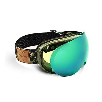 EnzoDate Gafas de esquí 2 en 1 con Lente magnética de Doble ...