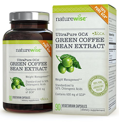 NatureWise UltraPure GCA Green Coffee Bean Extract for Weight Loss with 100% Pure GCA 600 mg 90 count