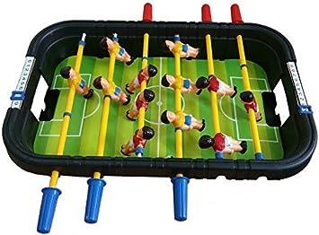 Takestop® Futbolín Fútbol de mesa juguete Fútbol Futbolín Mini juegos deportivo 2 jugadores niño Football Dai 3 + años: Amazon.es: Electrónica
