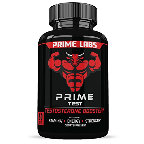 (Prime Labs Men's Testosterone Booster (60 Caplets) - Natural Stamina, Endurance and Strength Booster - Fortifies Metabolism - Promotes Healthy Weight Loss and Fat Burning)