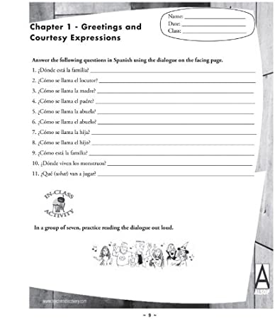 Amazon.com : Tom Alsop's First Year Spanish Workbook ...