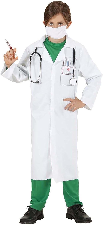 WIDMANN Sancto Infantil Doctor Disfraz Pequeño 5-7 años (128cm ...