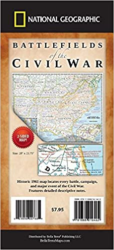 Battlefields of the Civil War Map: National Geographic ...