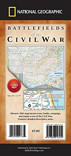 Battlefields of the Civil War Map