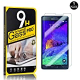 Galaxy Note 4 Tempered Glass Screen Protector, UNEXTATI® 9H Hardness Screen Protector Film