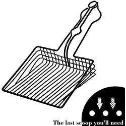 BasicForm Cat Litter Scoop Stainless Steel Wire with Black Resin Coating for Efficiently Cleaning