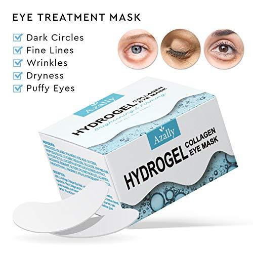 51t0bDpv0LL - AZALLY Hydrogel Collagen Eye Mask - Collagen Anti-Aging Under Eye Patches, Under Eye Patches, Under Eye Bags Treatment, Eye Mask for Puffy Eyes (60pcs)