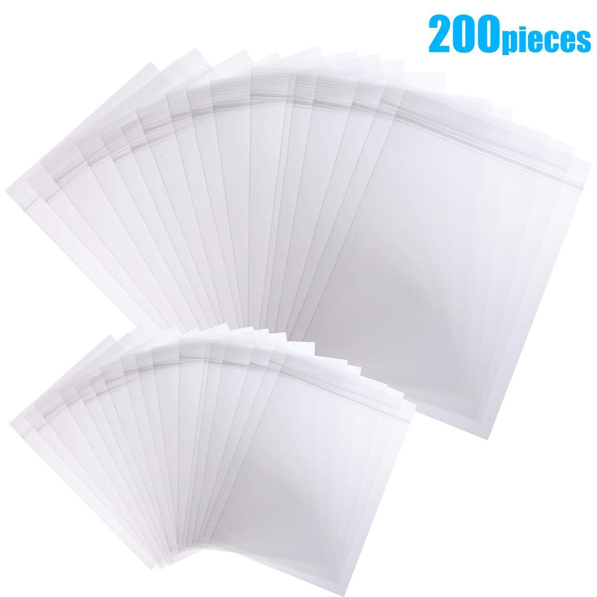 200 bolsas pequeñas de plástico transparente Ziplock: Amazon ...
