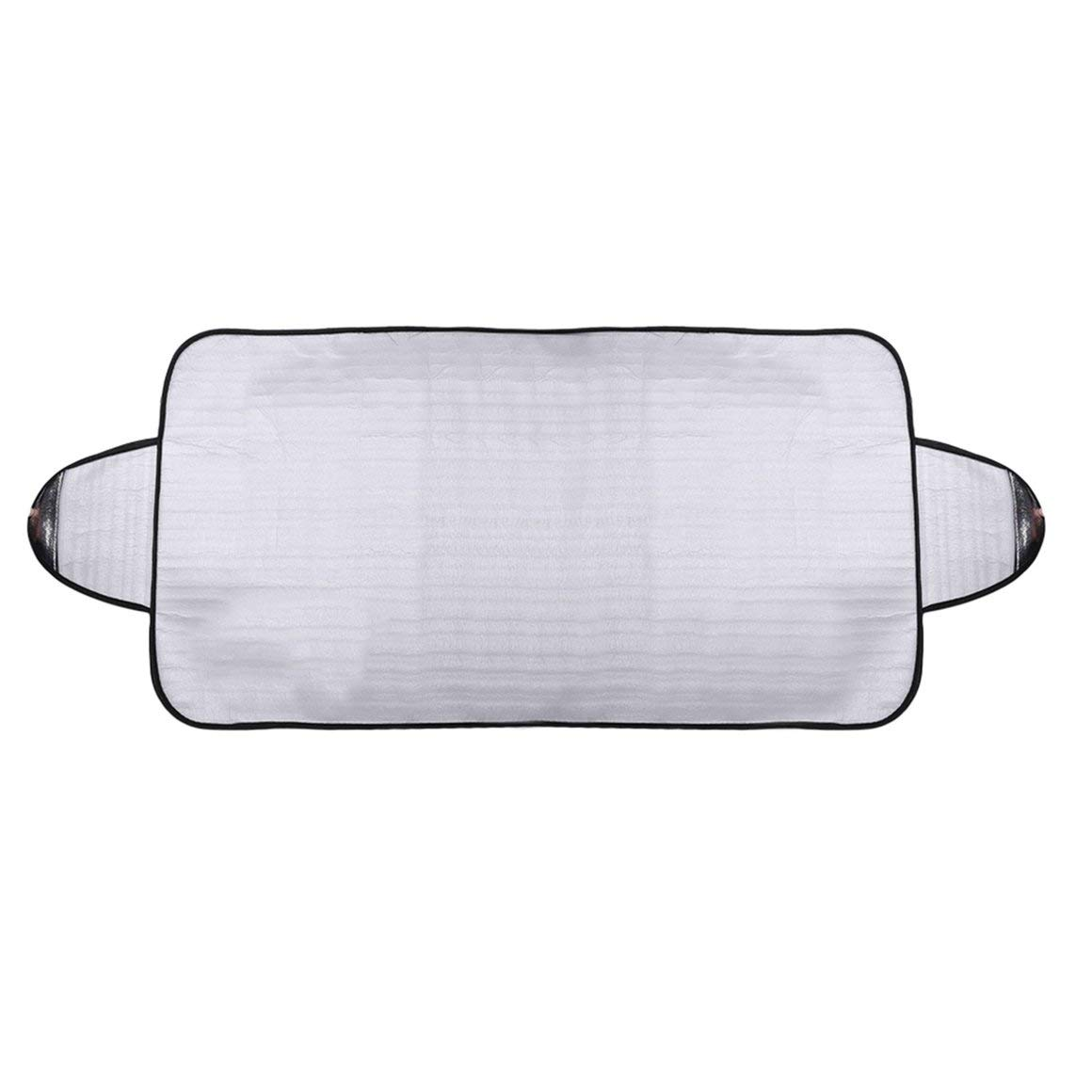 Funnyrunstore Practical Car Windscreen Cover Anti Ice Snow Frost Shield Dust Protection Heat Sun Shade Ideally for Front Car Windshield(Silver)