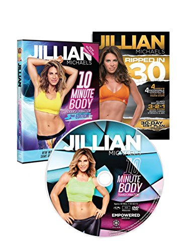 3 DVD Set Jillian Michaels. Ripped In 30, 10 Minute Body Transformation, 10 Minute Body Transformation 2nd Edition by Fit For Life Inc.