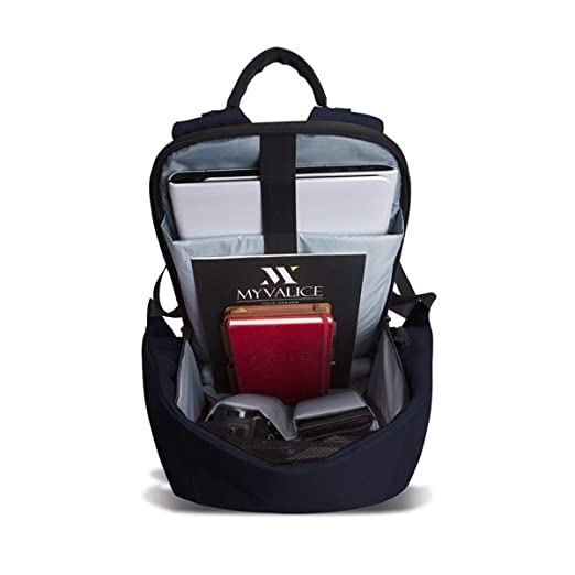 0b95c7814ed73 My Valice Smart Bag SECRET Usb Şarj Girişli Akıllı Sırt Çantası Lacivert:  Amazon.com.tr: My Valice
