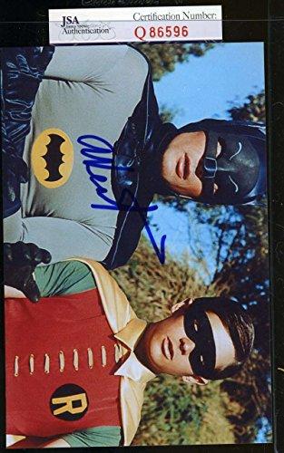 adam-west-batman-jsa-coa-hand-signed-4x6-photo-authenticated-autograph