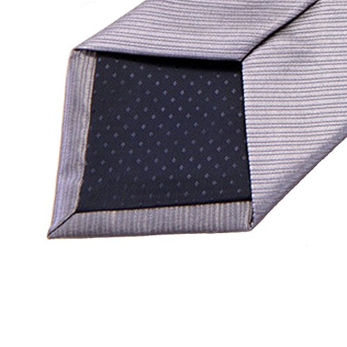 146 Suit Wedding Decorative Gray Tie Solid cm Tie x Men with Weave Gift Siliver 8 Necktie Classic Polyester Box Yamyannie qU6wdBU