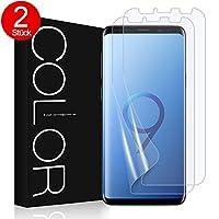 G-Color Galaxy S9+/Plus Schutzfolie [2 Stück], S9+/Plus HD Displayschutzfolie mit Hülle Folie [Blasenfreie] Schutzfolie [nicht Panzerglas Folie] für S9+/Plus(Transparent)