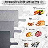 Chopping Board Set for Kitchen Holder, Index