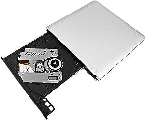 QYD USB External DVD Drive Burner Writer, USB External CD Drive USB 3.0 Ultra Slim Portable DVD Disc Rewriter CD/DVD-RW Writer Burner for Apple Mac MacBook Pro Air iMac and Other Laptop Desktop