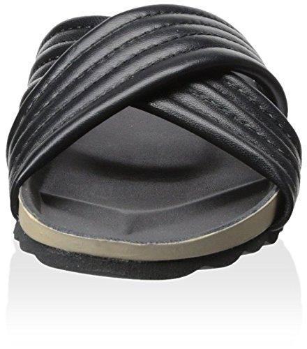Dune London Womens Jolenes Flat Sandal Svart / Läder