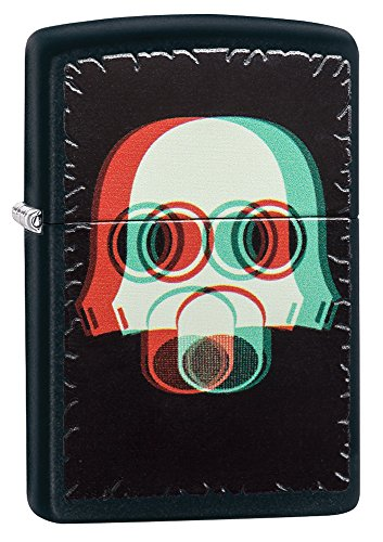 Zippo 3D Nuclear Mask Pocket Lighter, Black Matte