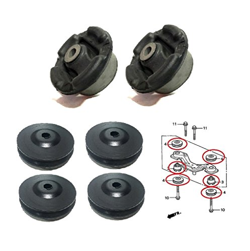 NISTO 6 Rear Differential Arm Mounting Bushing Support Rubber For 1997-12 Honda CR-V 1991-06 Honda Civic