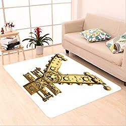 Sophiehome skid Slip rubber back antibacterial Area Rug goden currency japanese yen symbol and banking safe isolated on white background high resolution d 274649951 Home Decorative