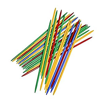 """Point Games Giant Pick Up Sticks Game in Lucite Storage Can, 9 3/4"""" Long, Great Fun Game for All Ages."""
