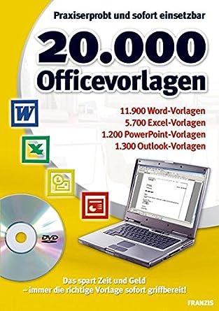 20.000 Office Vorlagen: Amazon.de: Software