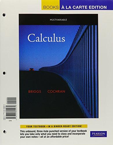 Multivariable Calculus Briggs Cochran Pdf