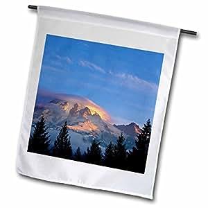 Danita Delimont - Mountains - First Light, Mount Rainier National Park, Washington - US48 CHA0100 - Chuck Haney - 12 x 18 inch Garden Flag (fl_95245_1)