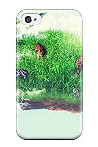 Durable Protector Case Cover With Wildlife Island Hot Design For Iphone 4/4s