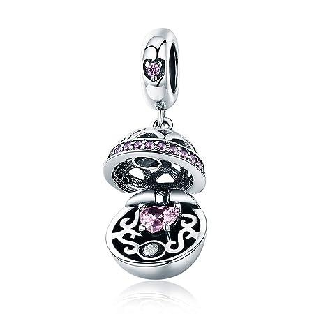 YJEW@ Mujer Charm Bead Plata de Ley 925 Esfera Charms ...