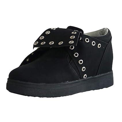 6c9c670def296 Amazon.com: JJHAEVDY Womens Wedge Sneakers Knotted Platform High Top ...