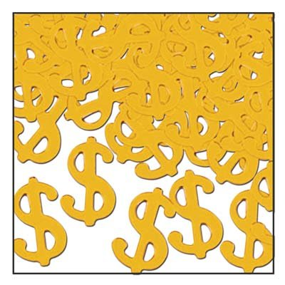 Fanci-Fetti $ Silhouettes (gold) Party Accessory  (1 count) (1 Oz/Pkg)