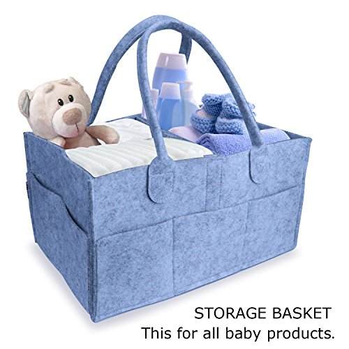 Diaper Caddy, Beiwas Multifunctional Storage Caddy Practical Baby Caddy for Baby Toys, Wipes, Diapers, Clothes
