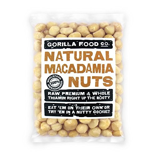 (JUST IN-2019 CROP! Premium Raw Macadamia Nuts Whole Unsalted - 8oz)