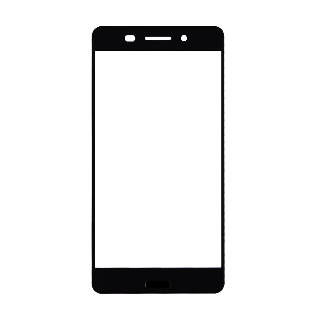 JUNXI Phone Front Screen Outer Glass Lens for Nokia 6(Black) Full Coverage and HD Clear (Color : Black) by JUNXI
