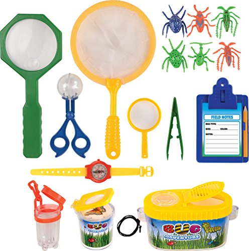 Kangaroo's Insect Bug Adventure Set; 18 Pc Backyard Exploration (Bug House Kit)