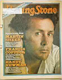 Rolling Stone Magazine Martin Sheen In Apocalypse Now