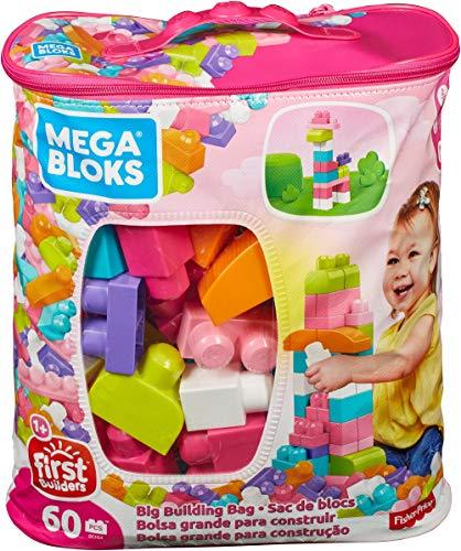Mega Bloks Big Building Bag, Pink, 60 Piece